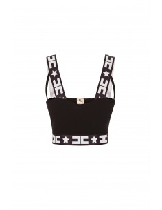 Elisabetta Franchi Crop Top in Black