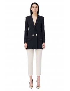 Double-breasted pinstriped Jacket - Elisabetta Franchi - gi02077e2_805