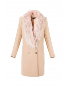 Cross Coat with Ecopiel - Elisabetta Franchi