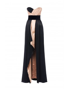 Jumpsuit with maxi skirt and belt - Elisabetta Franchi