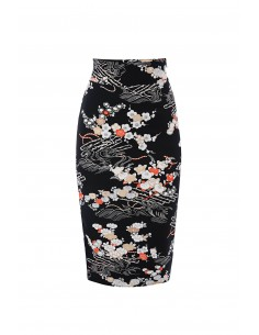 Pencil skirt with floral print - Elisabetta Franchi