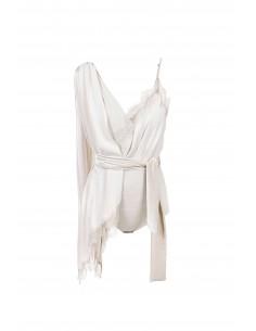 Bodysuit with lace and belt - Elisabetta Franchi