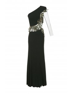 Long dress with embroidery - Elisabetta Franchi