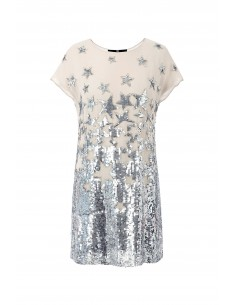 Mini-jurk met geborduurde sterren - Elisabetta Franchi