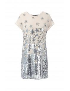 Mini sukienka z haftowanymi gwiazdami - Elisabetta Franchi