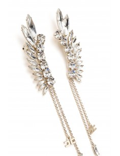 Earrings in silver with rhinestones - Elisabetta Franchi