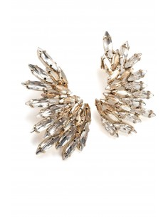 Earrings in gold with rhinestones - Elisabetta Franchi