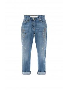 Boyfriend jeans with stars - Elisabetta Franchi
