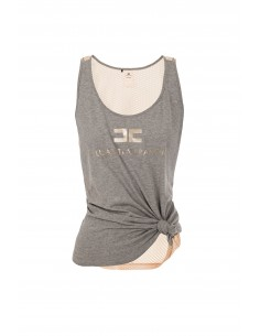 Sporty tank top with mesh insert - Elisabetta Franchi