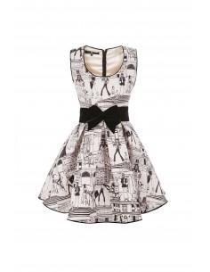 Mini dress with print and belt - Elisabetta Franchi