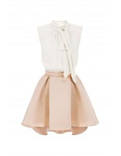 Asymmetrische jurk met riem - Elisabetta Franchi