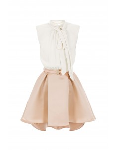 Asymmetrisches Kleid mit Gürtel - Elisabetta Franchi