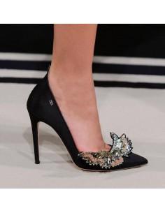 High Heels in Schwarz mit Applikationen - Elisabetta Franchi - sa83s78e2_153