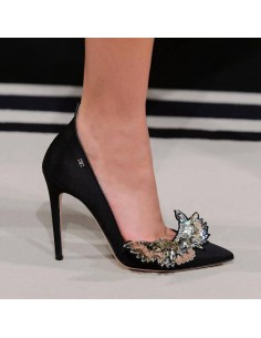 Low cut shoes with applique - Elisabetta Franchi - sa83s78e2_153
