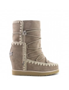 Eskimo Boots with French Toe Wedge short in elephant grey - MOU