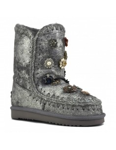 Eskimo 24 Boot with flowers in gecko silver iron - MOU