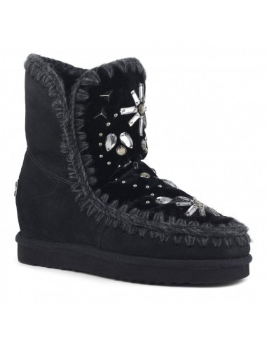 Boots Inner Wedge with Stones & Crystals with black velvet - MOU