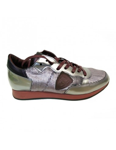 Sneakers Argent / Rouge - Philippe Model