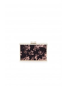 Clutch bag with floral print - Elisabetta Franchi - bs59a78e2_110