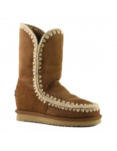 "Slim-line eskimo boots high in ""Cognac"" - MOU"