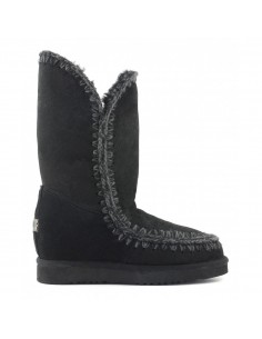 Slim-line eskimo boots high in black - MOU