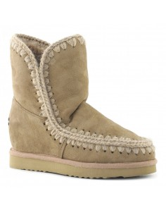 Eskimo Inner Wedge Boot Short in Color Camel - Mou
