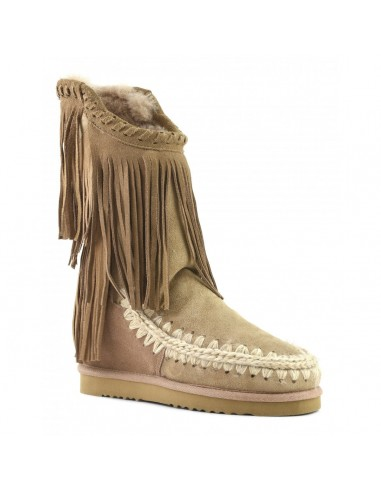 Inner Wedge Eskimo Boots with asymmetric fringing - Mou