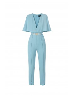 Coverall with cape and belt - Elisabetta Franchi - tu06281e2_016