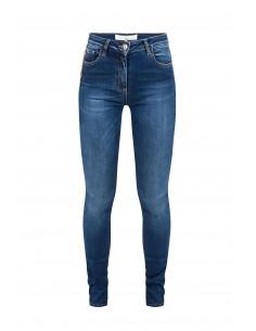 Jeans avec des chaînes et des pendentifs - Elisabetta Franchi - pj03S81e2_139