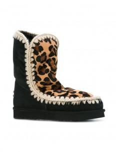 Eskimo botas de cunha interna em Leopard impresso - MOU