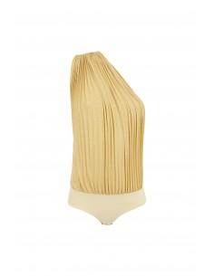 One shoulder trumper, pleated body - Elisabetta Franchi - BO11182E2_N56