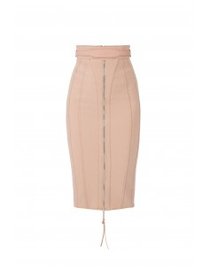 Midi skirt with belt - Elisabetta Franchi - GO06381E2_153