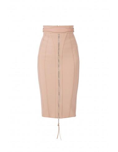 Midi skirt with belt - Elisabetta Franchi - GO06381E2_153