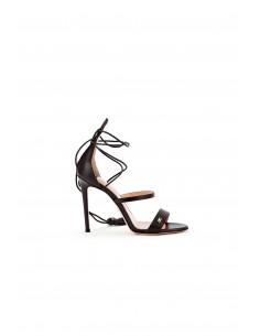 Sandały z frędzlami - Elisabetta Franchi - SA42S82E2_110