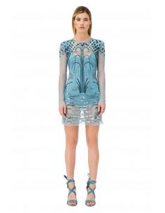 Mini sukienka z haftem - Elisabetta Franchi - AR12J81E2_016