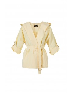 Trench coat with hood - Elisabetta Franchi - GI02H81E2_N56