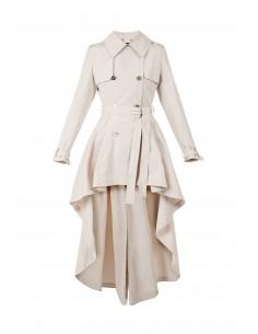 Asymmetric trench coat - Elisabetta Franchi - SP02H81E2_135