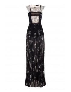 Langes Kleid mit Ähren-Print - Elisabetta Franchi - AB29882E2_110
