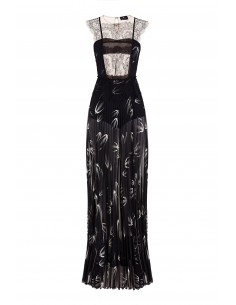 Vestido longo com espigas - Elisabetta Franchi - AB29882E2_110