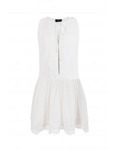 Ärmelloses Kleid mit Spitze - Elisabetta Franchi - AB35482E2_360