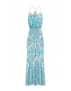 Robe sirène pailletée - Elisabetta Franchi - AR24G82E2_460