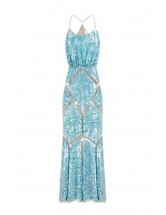 Vestido de sereia com sementes - Elisabetta Franchi - AR24G82E2_460