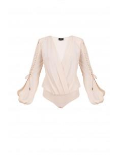Body con mangas y cordones blusa - Elisabetta Franchi - BO06282E2_350