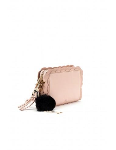 Elisabetta Franchi - Handtasche mit Feston und Schlüsselanhänger - BS65A82E2_181