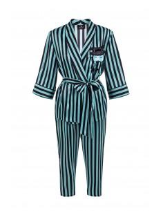 Elisabetta Franchi - Camisa blusa e calça com listras imprimir - MN00182E2_P22