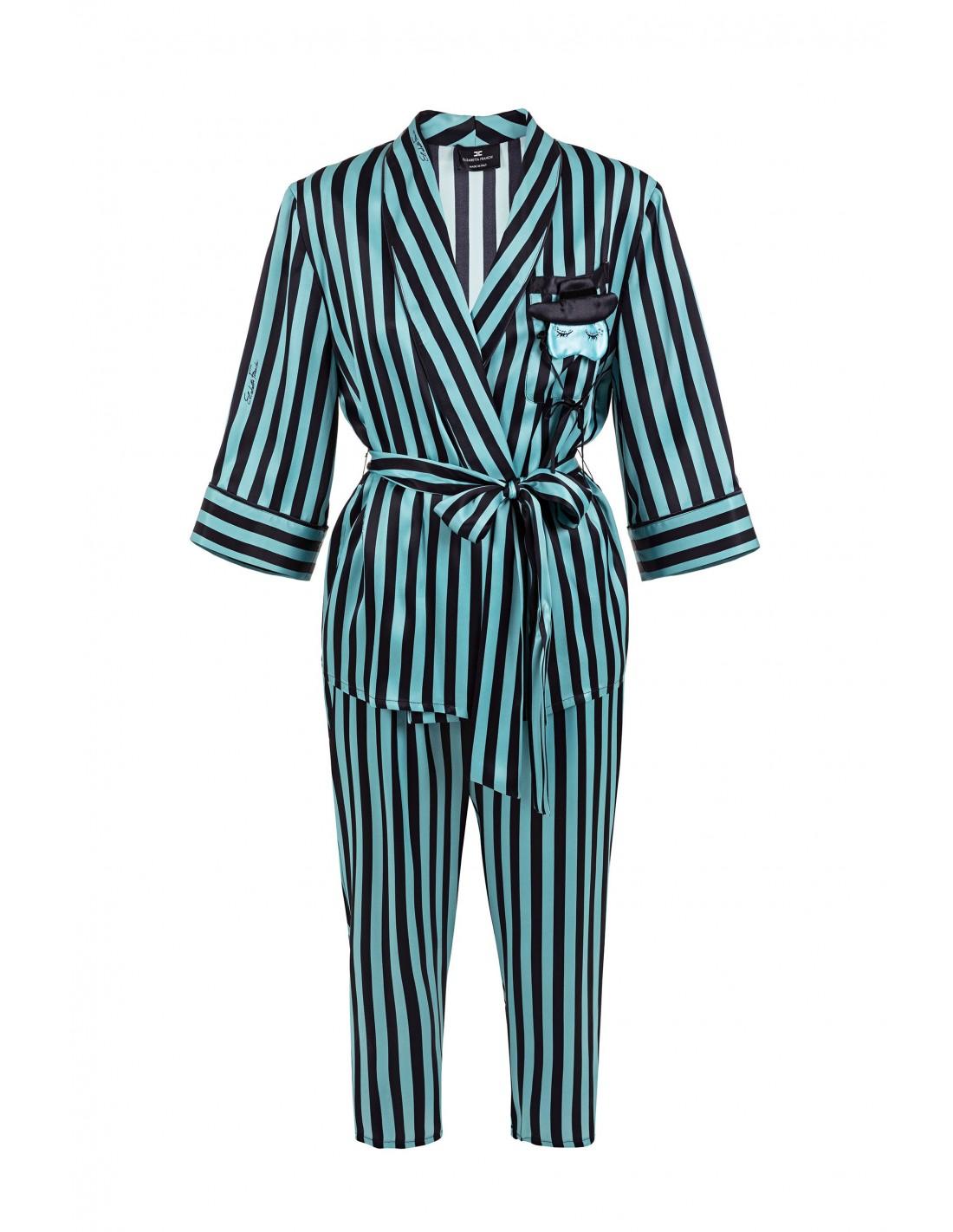 Elisabetta Franchi - Shirt blouse and pants with stripes print - photo#42