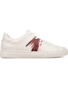 Crime London Sneakers 94 em branco / Bordeaux