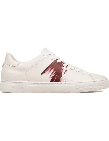Crime London Sneakers 94 in Weiß / Bordeaux