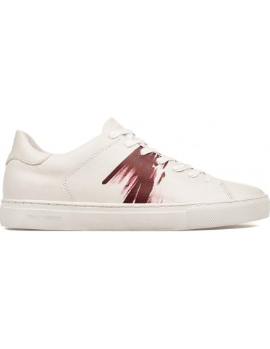 Crime London Sneakers 94 in White / Bordeaux