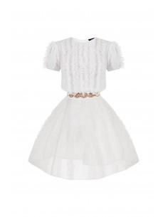 Mini dress with frills - Elisabetta Franchi - AB34282E2_360